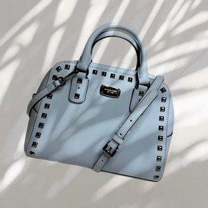 MICHAEL KORS | Saffiano Stud Satchel Crossbody Bag